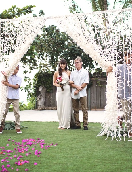 43 best outdoor wedding entrance ideas pink lover image source junglespirit