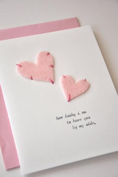 Adorable Valentines Day Handmade Card Ideas - Pink Lover