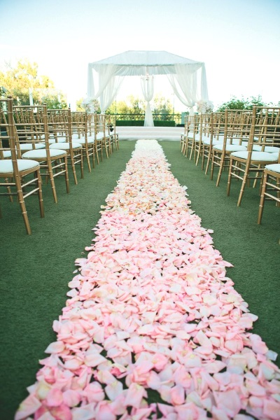 50 best garden wedding aisle decorations pink lover for Wedding walkway