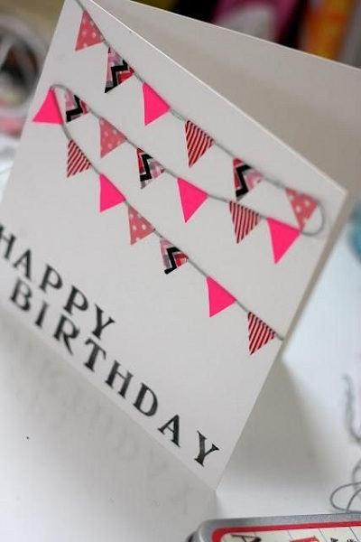 Handmade Birthday Cards - Pink Lover