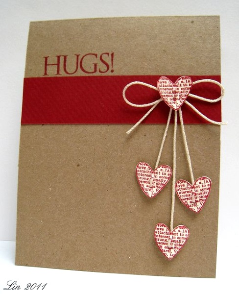 Adorable Valentines Day Handmade Card Ideas Pink Lover – Hand Made Valentine Cards