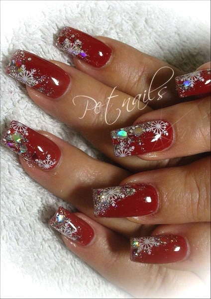 more christmas glitters nail art design image source