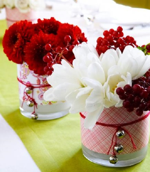 Most beautiful christmas table decorations pink lover