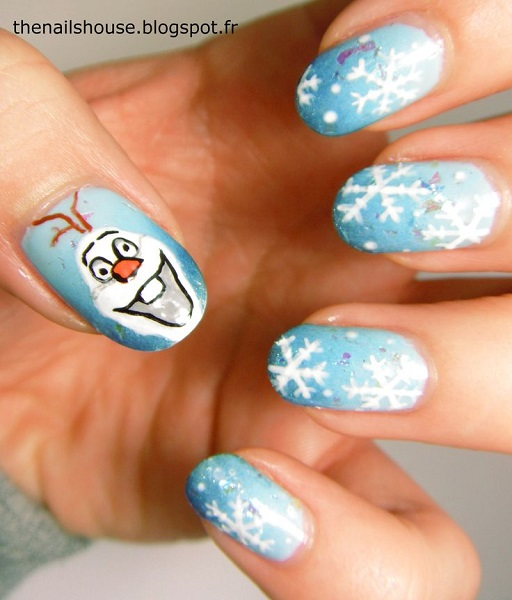 frozen-olaf-nail-art-design