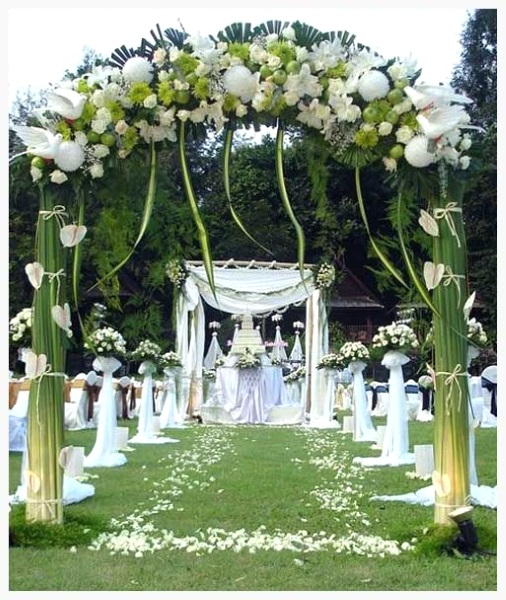 43 best outdoor wedding entrance ideas pink lover for Backyard wedding decoration ideas