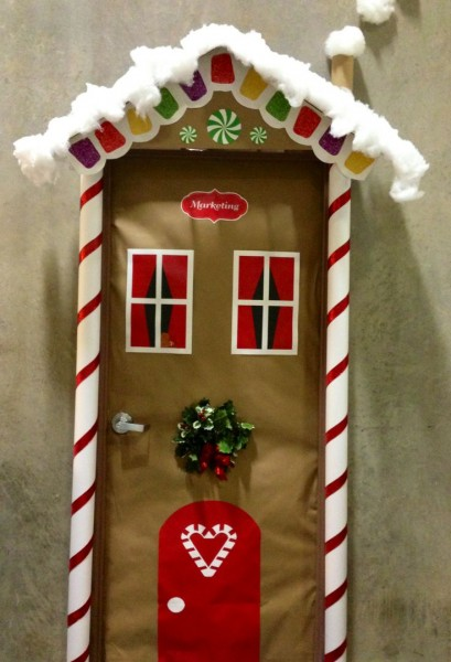 Classroom Ideas For Christmas ~ Christmas door decoration ideas pink lover