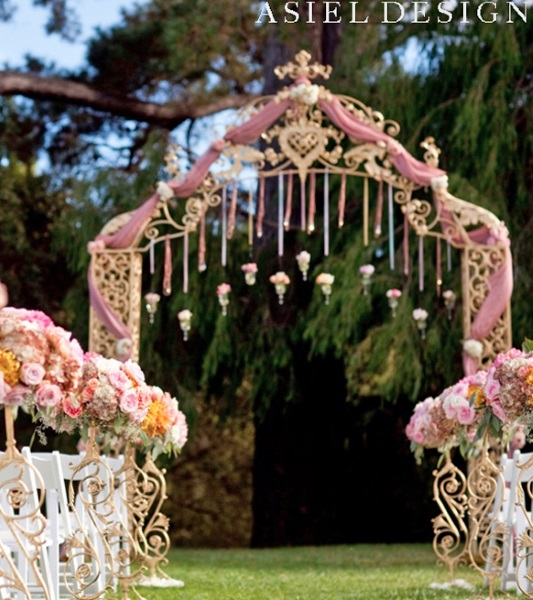 60 best garden wedding arch decoration ideas pink lover - Garden wedding decorations pictures ...