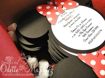 Handmadebyodette Minnie Mouse Birthday Party