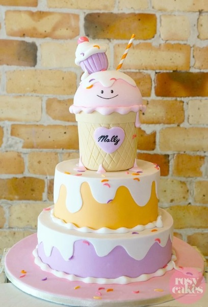 Cake Ice Cream Birthday : 60 Ice Cream Birthday Party Ideas - Pink Lover