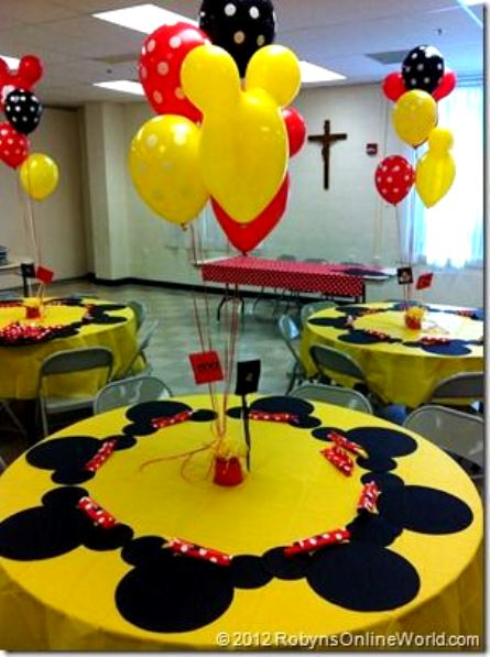 Mickey Mouse Birthday Party Centerpiece Robynsonlineworld