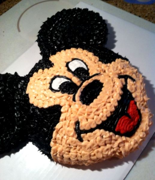 Mickey Mouse Face Birthday Cake