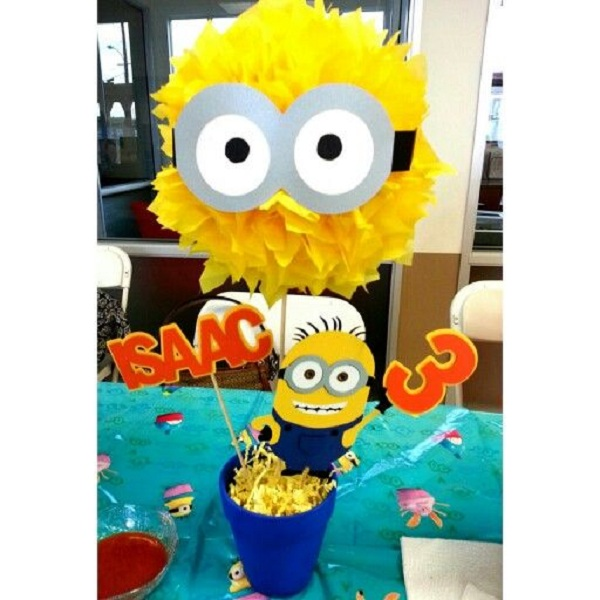 Minion Birthday Party Centerpiece Image Source