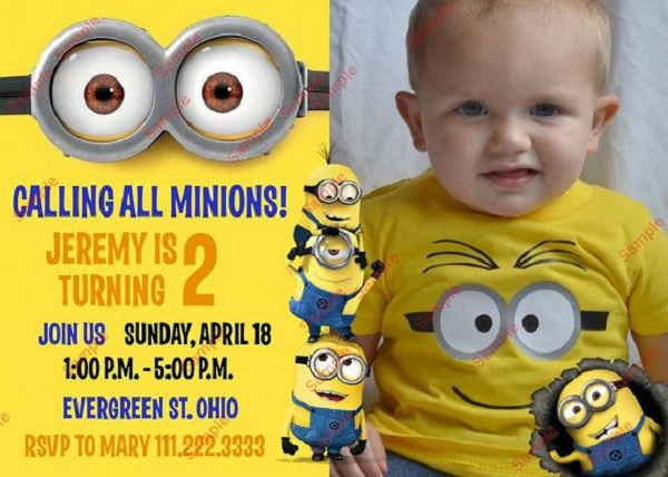 minion despicable me birthday party ideas - pink lover, Birthday invitations