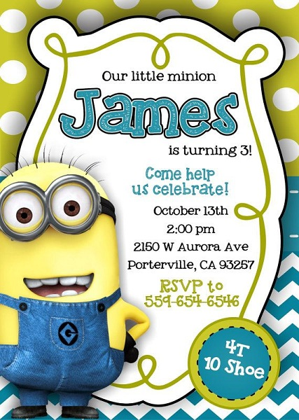 Minions Birthday Invitations Free Printable Invitation Template - Minions birthday invitation template