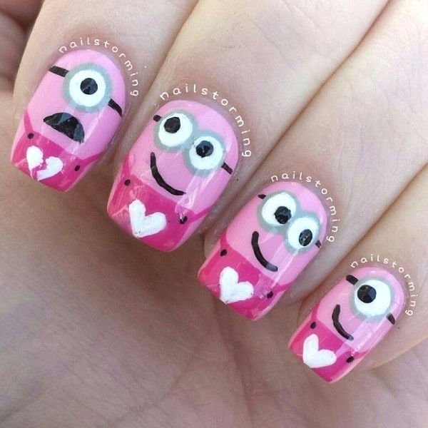 image source - 50 Best Valentines Day Nail Art Designs - Pink Lover