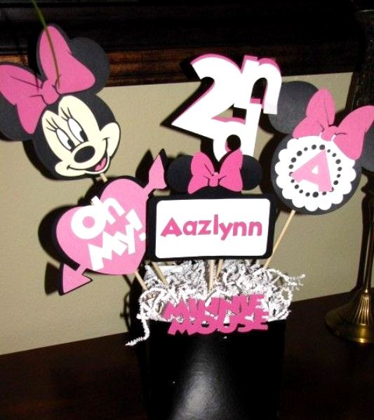 Diy Minnie Mouse Table Centerpiece Ideas Diy Reviews Ideas