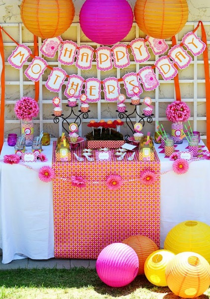 Mothers Day Party Decoration Ideas Pink Lover