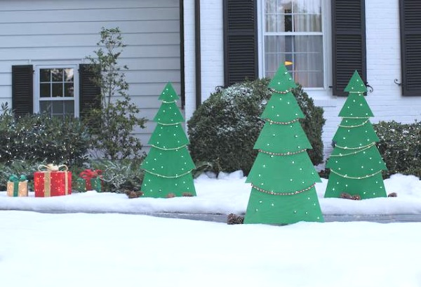 Wooden Christmas Lawn Decorations