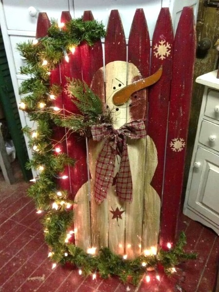 rustic christmas decorations image source