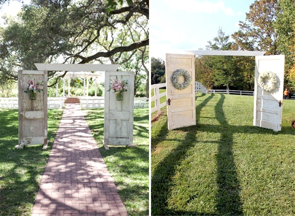 Outdoor Wedding Ideas: 43 Best Outdoor Wedding Entrance Ideas