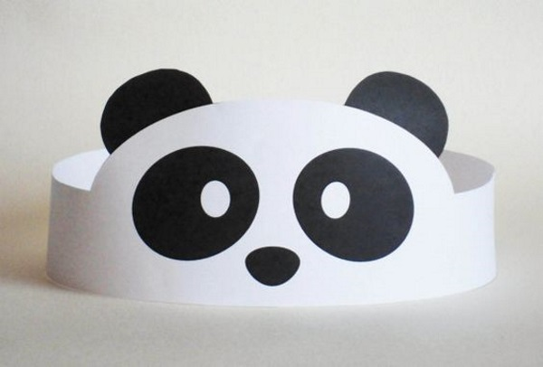 Panda Paper Crown. image source & 60 Kung Fu Panda Birthday Party Ideas - Pink Lover