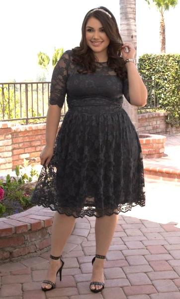 Black Plus Size Maid Of Honor Dresses - Short Hair Fashions
