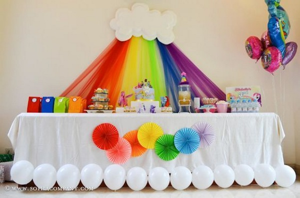 image source image source & 60 Cute Rainbow Birthday Party Ideas - Pink Lover