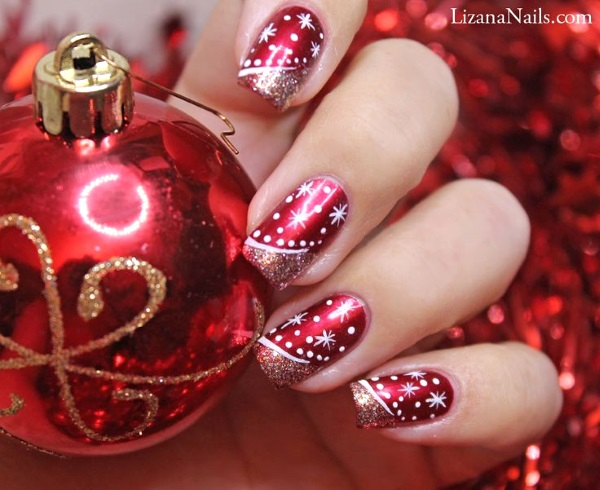 image source - Best Christmas Nail Art Designs - Pink Lover