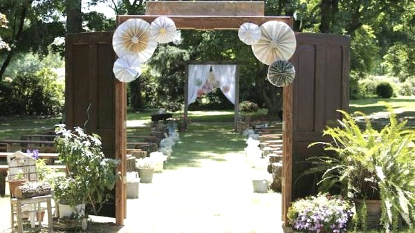 Image Source Elegant Outdoor Wedding Entrance