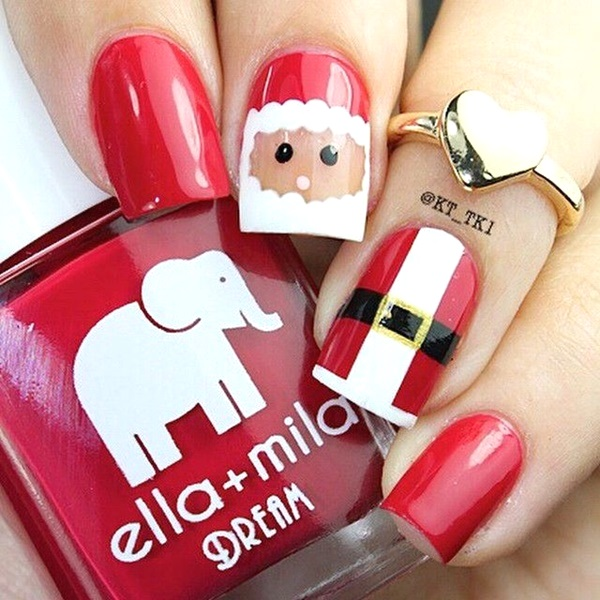 Best christmas nail art designs pink lover image source image source santa hat christmas nail art prinsesfo Choice Image