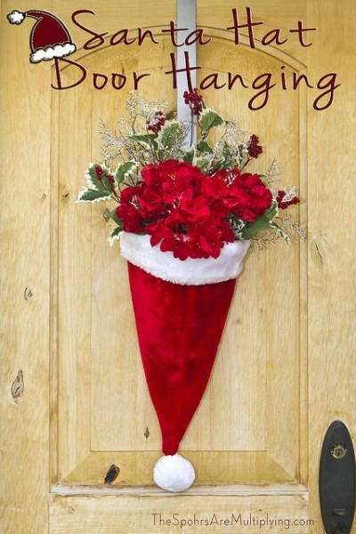 santa-hat-christmas-decoration-ideas