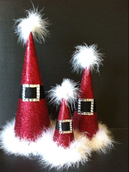 christmas table decorations with fluffs image source