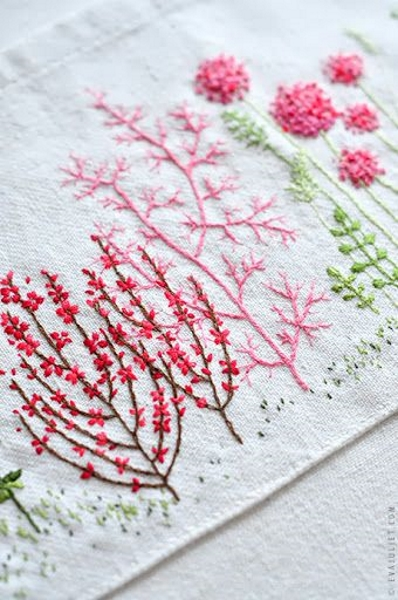Simple hand embroidery flowers imgkid the