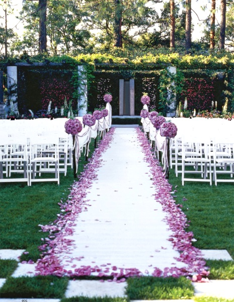 50 best garden wedding aisle decorations pink lover for Outdoor wedding decorating ideas