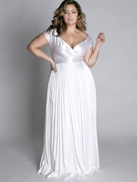 Simple wedding gown for plus size for Simple dress for civil wedding