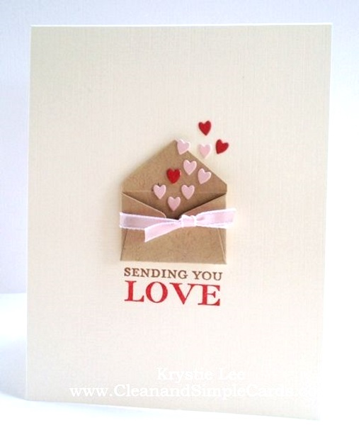 Adorable Valentines Day Handmade Card Ideas Pink Lover – Simple Valentines Day Cards