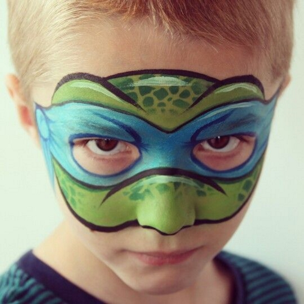 Easy Turtle Face Painting