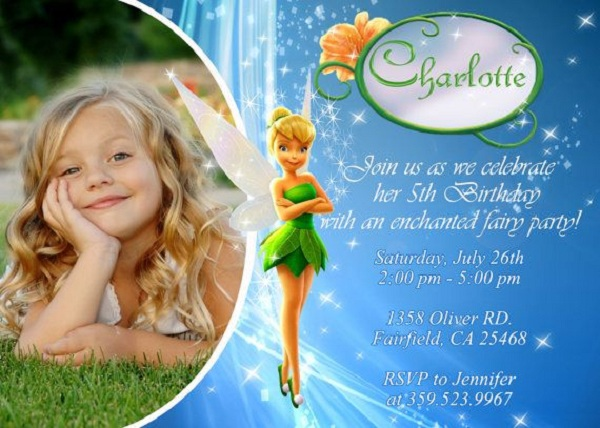 tinkerbell fairy birthday party theme ideas - i love pink, Party invitations
