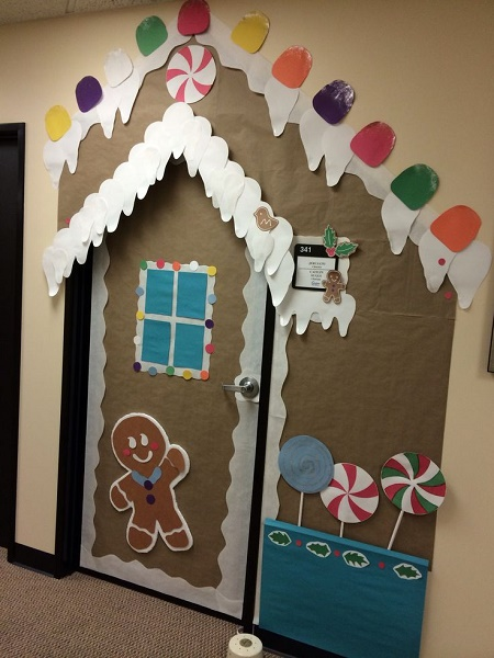 pictures of best office door christmas decorations
