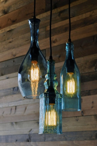 50 diy chandelier ideas to beautify your home pink lover image source image source diy glass bottle chandelier solutioingenieria Image collections