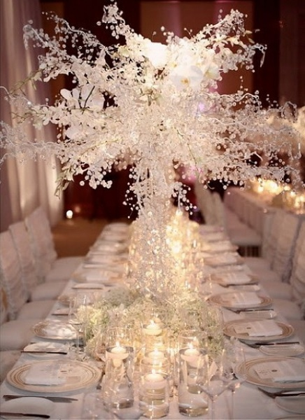 50 Most Beautiful Christmas Table Decorations Pink Lover: white christmas centerpieces