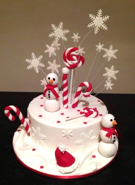 55 Tempting Christmas Cake Designs Pink Lover