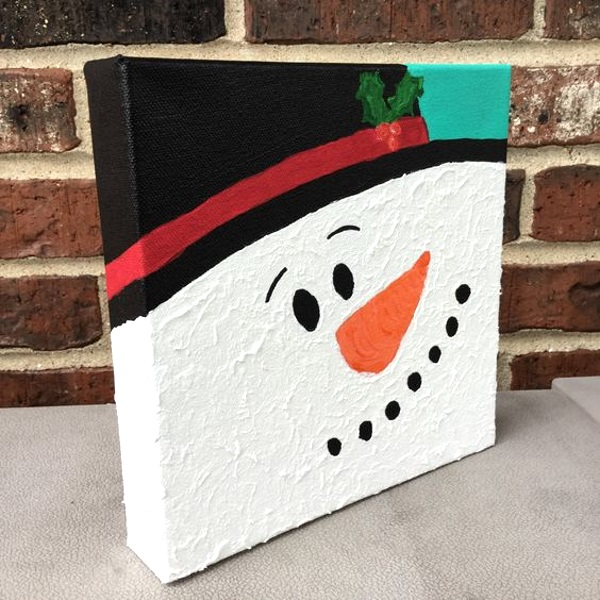 50 best diy snowman christmas decoration ideas i love pink for Christmas canvas painting ideas