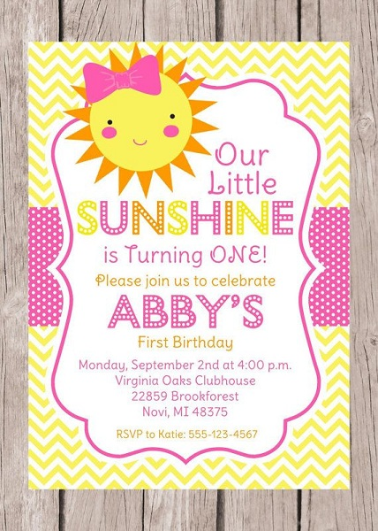 You Are My Sunshine Birthday Party Ideas Pink Lover