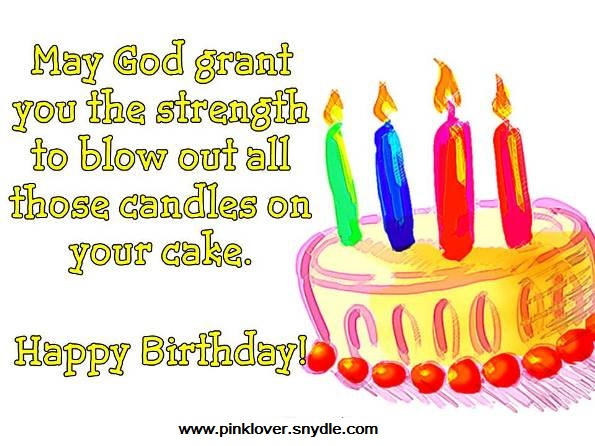 Happy Birthday Wishes and Greetings Pink Lover – Religious Birthday Card Messages