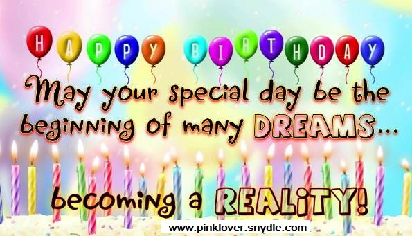 Happy Birthday Wishes for a Friend Pink Lover – Birthday Greetings Wishes