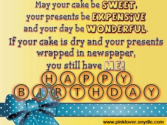 Happy Birthday Wishes for a Friend Pink Lover – Funniest Birthday Greetings