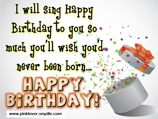 Funny Birthday Wishes For Best Friend Images ~ Happy birthday wishes for a friend pink lover