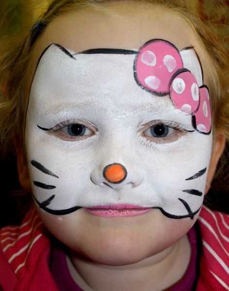 Hello Kitty Face Paint