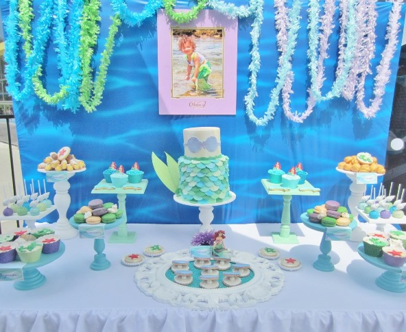 Disney princess birthday party ideas pink lover for Ariel party decoration ideas